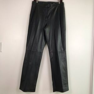 111 State Genuine Leather Moto Pants